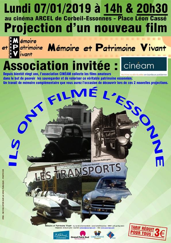 AFFICHE-01-2019-CINEAM - LES TRANSPORTS EN ESSONNE