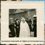 1956 - Communion Solennelle en l'église de Saint-Germain-Les-Corbeil