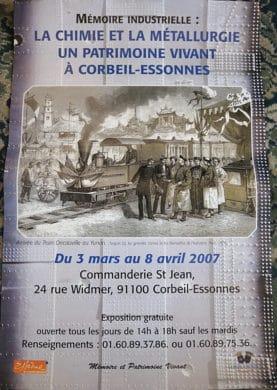 Exposition MPV 2007 - Memoires Industrielle : La Chimie et la Metallurgie un patrimoine vivant à Corbeil-Essonnes