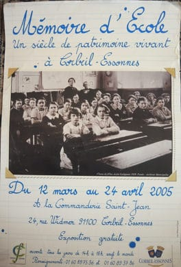 Exposition MPV 2005 - Mémoires d'Ecole -Corbeil-Essonnes