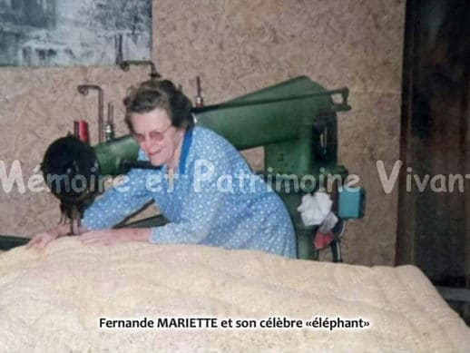 Fabrication de couvre-pieds avec l'Elephant - Vieux métiers - Corbeil-Essonnes