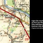 Ligne des meulières d'Orgenoy au Port aux Pierres à Ponthierry - Voie métrique
