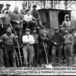 Les carriers d'Orgenoy et les wagons de meulière transportée au Port aux Pierres à Ponthierry