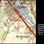 Ligne de train des carrières de meulières de Grigny