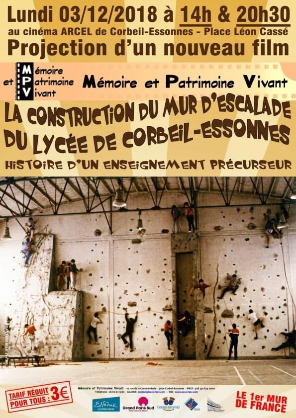 Projection-Mur-Escalade-Lycée-Corbeil-Essonnes-Arcel-décembre-2018