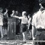 Camp scout des Settons, juillet 1951. Promesse scoute.
