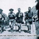 Camp route Alpes, 1948. routiers dont J. Le Héron, F. Legros, J