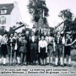 St Léon, juin 1945. La maîtrise, père Letourneur, capitaine N