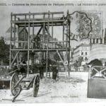 Exercice des pompiers en 1906 à Corbeil