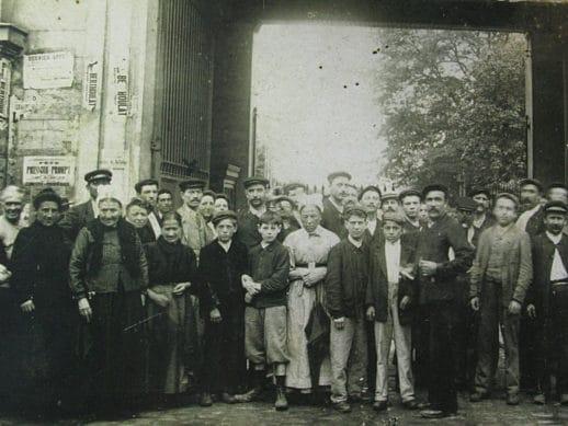 Personnel de la Papeterie Darblay à Corbeil-Essonnes