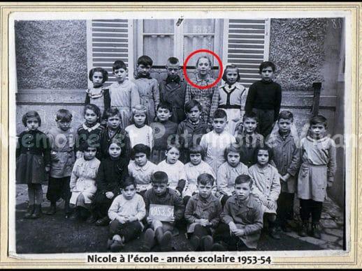 Photo de classe à Corbeil-Essonnes - Année scolaire 1953-54