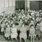 Photo de classe primaire autrefois à Corbeil