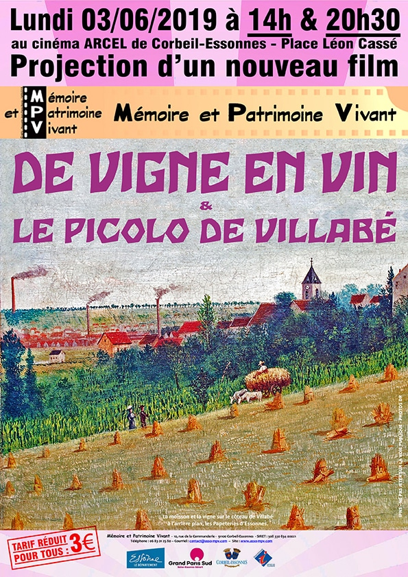 Projection MPV du film De vigne en vin & le picolo de Villabé
