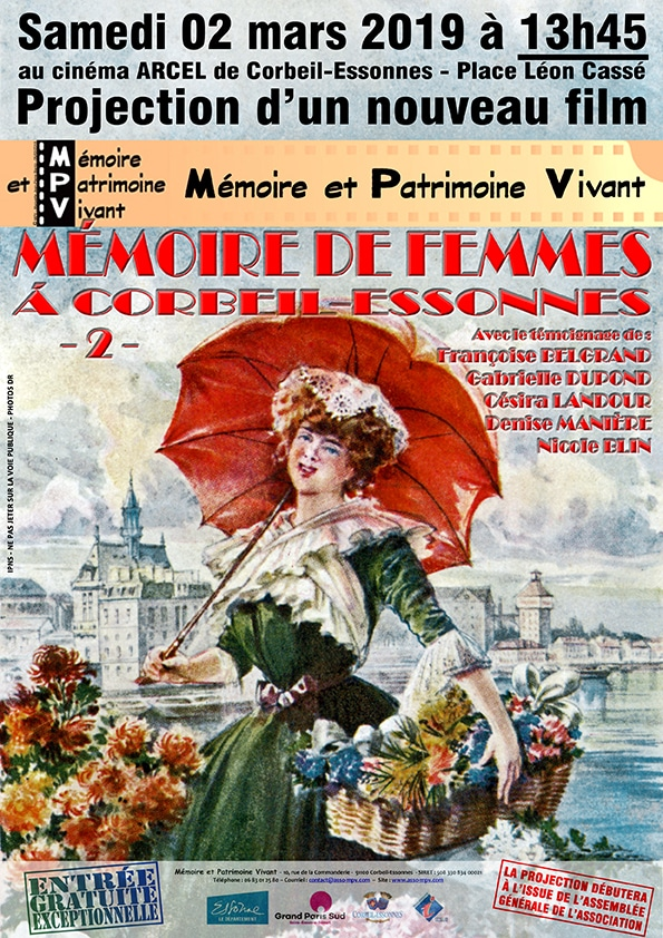 Mémoire de femmes à Corbeil-Essonnes -2- Projection film MPV à Corbeil-Essonnes le 02-03-2019