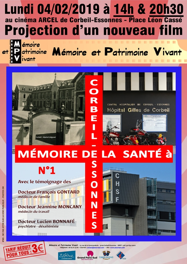 Mémoire de la santé à Corbeil-Essonnes - Projection film MPV à Corbeil-Essonnes le 04-02-2019