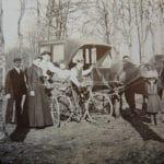 Promenade en forêt vers 1900